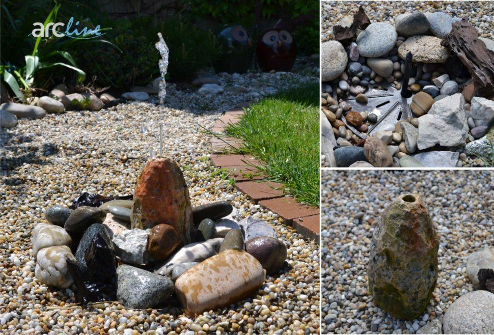 Záhradná solárna fontánka.